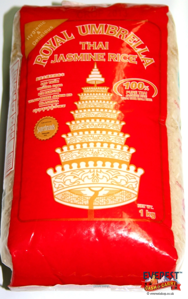 Royal umbrealla thai jasmine rice 1kg everest cash carry for Aroma royal thai cuisine nj