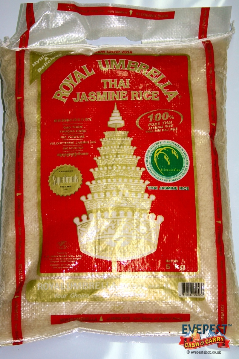 Royal umbrella thai jasmine rice 5 kg everest cash carry for Aroma royal thai cuisine nj