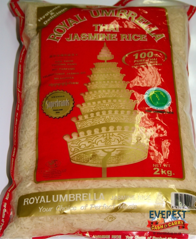 Royal umbrella thai jasmine rice 2kg everest cash carry for Aroma royal thai cuisine nj