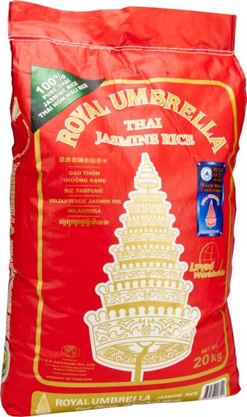 Royal Umbrella Thai Jasmine Rice 20kg Everest Cash Amp Carry